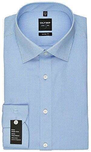 OLYMP Herren Hemd Level 5 Body Fit extralange Ärmel bleu (50) 43