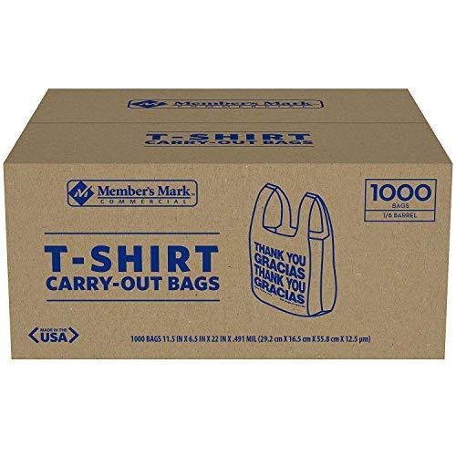 T-Shirt Carryout Bags- Thank You/Gracias - 1000 ct.