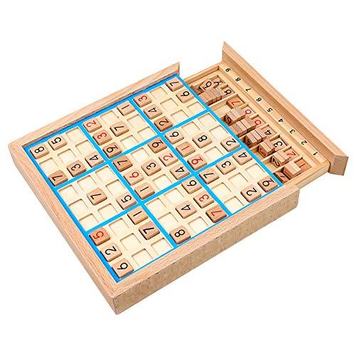 jieGorge Juguete Educativo, Juguete Jiugong Lattice Sudoku Juego Ajedrez Adulto Pensamiento lógico Niños Educacióna, Juguetes y Pasatiempos (Azul)