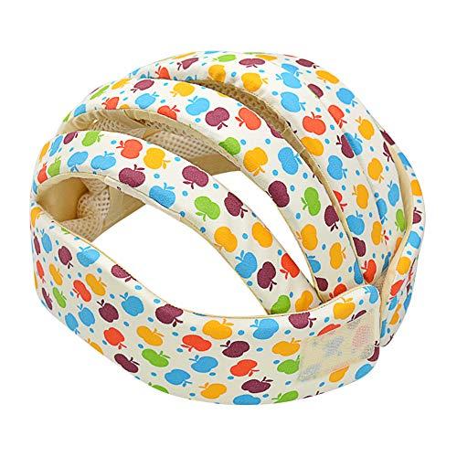 IULONEE casco da bambino infantili cappello di testa di cotone cappello del bambino regolabile di sicurezza casco (Apple Flower)