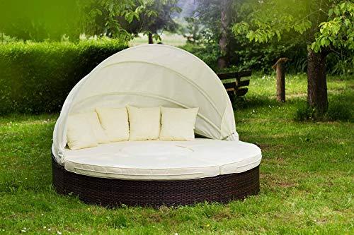 Essella Honolulu Poly Rattan Sun Island Day Bed con intreccio extra forte, 1.4mm, colore: marrone