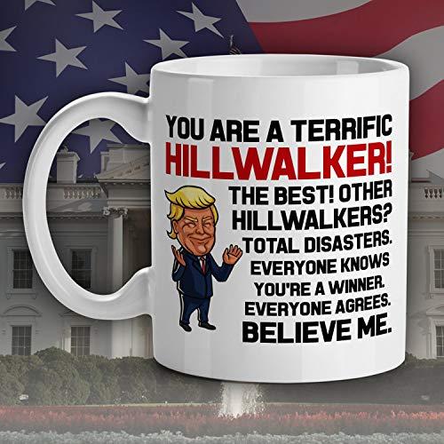 Trump Mok voor Hillwalker Trekker wandelaars avonturier sport trump liefhebbers geschenken Trump spreuken ongeschikt beker Trump Gag geschenk MAGA cadeau
