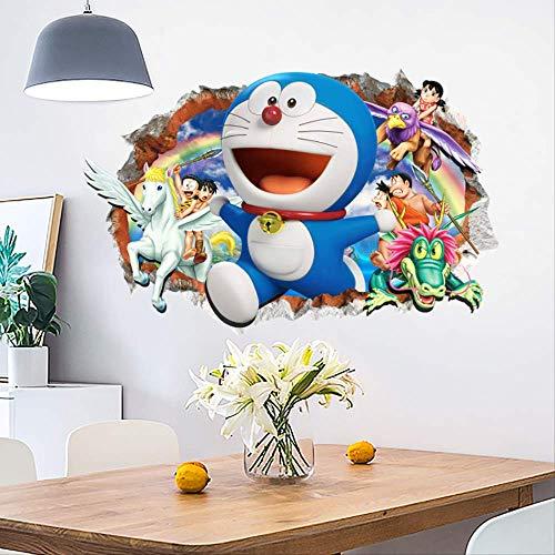 Doraemon - Adesivo da parete per cameretta dei bambini, motivo: gatto robot