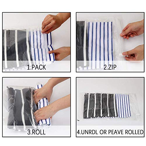 513FpWprqBL - VacBest Compression Bags, Travel Space Saver Bags for Clothes (12 Travel)