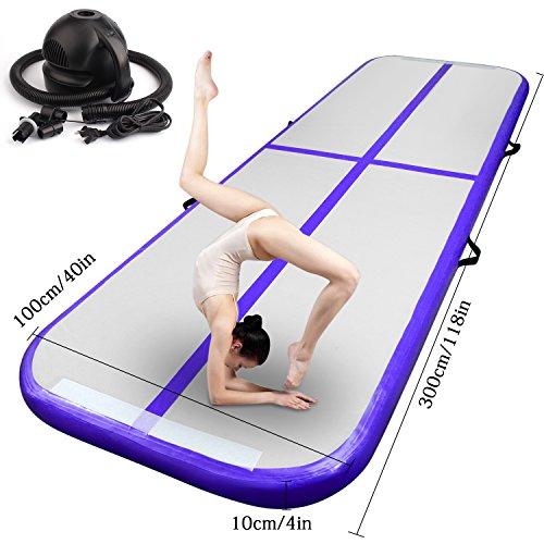 FBSPORT 3m Purple Airtrack Matte, air Tracks Gymnastik Tumbling matten Floor Trainingsmatten...