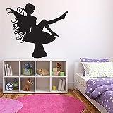 Mariposa anime tatuajes de pared setas alas mágicas bosque pegatinas de vinilo lindos niños niñas dormitorio guardería decoración de arte interior