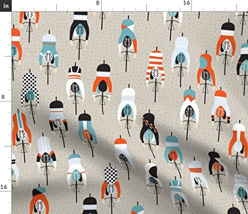 Spoonflower Fabric - Cycling Sport Bike Racing Printed on Basketweave Cotton Canvas Fabric by The Yard - Upholstery Home Decor Bottomweight Apparel