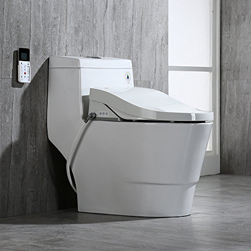 WOODBRIDGE T-0008 Luxury Bidet Toilet, Elongated One Piece Toilet with Advanced Bidet Seat, Smart...
