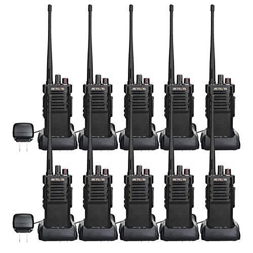 Case of 10,Retevis RT29 2 Way Radios Long Range 3200mAh Walkie Talkies Bulk VOX Security High Power Walkie Talkies Rechargeable for Warehouse,Construction