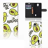 B2Ctelecom Handytasche passt für Huawei Y635 Leder Hülle Avocado Singen