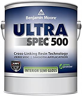 Benjamin Moore Ultra Spec 500 Interior Paint - Semi-Gloss Finish (Gallon, White)