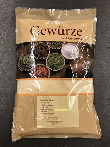 Gelatine Silber, Aspikpulver 1 Kg Packung, Aspik 120 Bloom