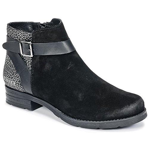 BUNKER Coto Stiefelletten/Boots Damen Schwarz - 36 - Boots Shoes