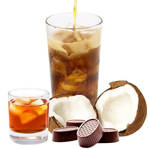 Kokos Rum Praline Geschmack extrem ergiebiges Getränkepulver für Isotonisches Sportgetränk Energy-Drink ISO-Drink Elektrolytgetränk Wellnessdrink