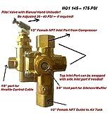 Gas Air Pilot Compressor Unloader Check Valve Combo 145 - 175 PSI 1/2' Female