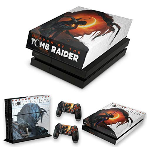 Capa Anti Poeira e Skin para PS4 Fat - Shadow Of The Tomb Raider