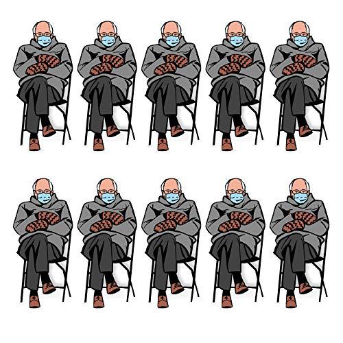Amandaz Senator Bernie Sanders Aufkleber,Bernie Cartoon Styling Aufkleber Aufkleber kreative Aufkleber Laptop Handy Aufkleber wandaufkleber(2, 5, 13pc)