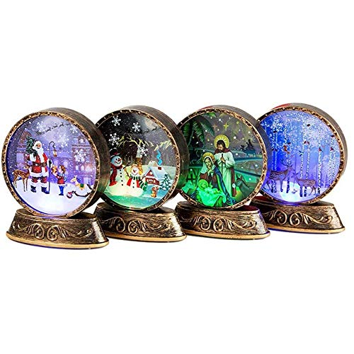 Bedroom 4 Pieces of Christmas Decorations, Wind Lamps, Night Light, Creative LED Lights, Shopping Malls, Christmas Desktop Ornaments Control