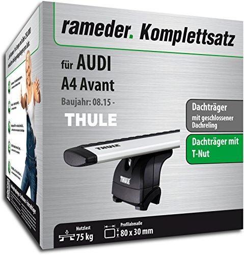Rameder Komplettsatz, Dachträger WingBar EVO für Audi A4 Avant (114423-14696-2)
