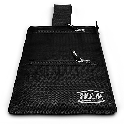 Shacke Hidden Travel Belt Wallet w/RFID Blocker (Black with Black Strap)