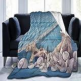 Nicokee Manta de franela suave y cálida, manta de pesca y torres de vigilancia, mantas decorativas para bebé, decoración del hogar, cadena de sofá o sofá, Franela, Multicolor, 50'x40