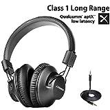 [2020 New] Avantree AS9PA aptX Low Latency Bluetooth 5.0 Over Ear Headphones for...