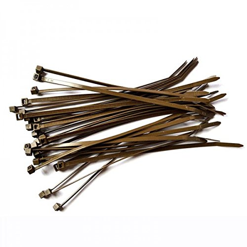 Lot de 100 colliers de serrage marron Gocableties - 300 mm x 4,8 ...