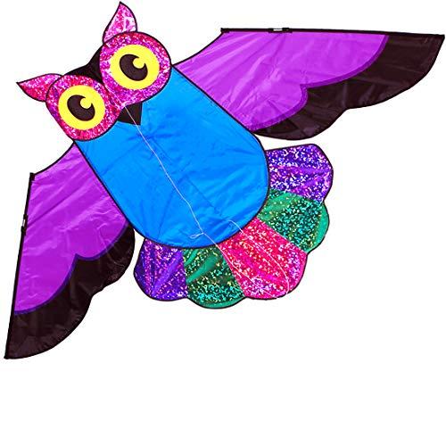 Riesiger Eulen-Drachen für Kinder und Erwachsene, einfach fliegender Drache für Kinderspielzeug, Outdoor-Aktivitäten
