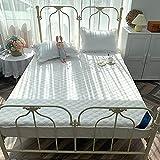 BOLO Juego de sábanas de 100% algodón egipcio de calidad de hotel, 1 pieza, extra profundo, doble británico (blanco, 180 x 200 + 25 cm)