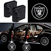 For Oakland Raiders Car Door Led Welcome Laser Projector Car Door Courtesy Light Suitable Fit for all brands of cars