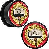 2,22 cm Logo oficial Thor martillo juego de conectores roscada de acrílico