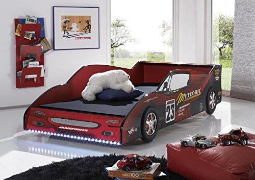 Cama infantil para coche, 90 x 200 cm, fórmula con iluminación LED