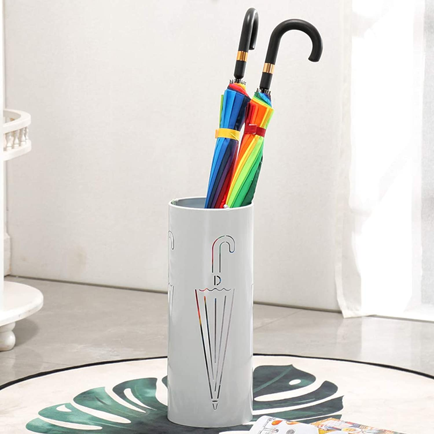 HLJ Originality Household Umbrella Stand Hotel Lobby Umbrella Stand Simple Umbrella Stand Antirust Entrance Hall Umbrella Stand