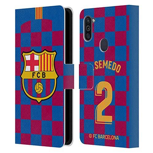 Head Case Designs Oficial FC Barcelona Nélson Semedo 2019/20 Jugadores Home Kit Grupo 2 Carcasa de Cuero Tipo Libro Compatible con Samsung Galaxy M11 (2020)