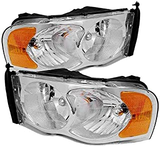 FIT FOR DG RAM TRUCK 1500 2500 3500 2002 2003 2004 2005 HEADLIGHT RIGHT & LEFT PAIR SET