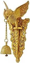 Aakrati Brass Parrot Showpiece with Charm Bell Decorative Bird Welcome Door Hanging Statue Wall Decor Metal Sculpture/Statue