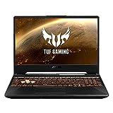 ASUS TUF Gaming A15 FX506IU-BQ225 - Ordenador portátil de 15.6' FullHD (AMD Ryzen 7 4800H, 16GB RAM, 512GB SSD, GeForce GTX1660Ti-6GB, sin sistema operativo) Negro Hoguera - Teclado QWERTY español