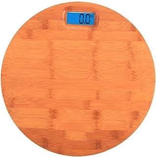 UYZ Báscula electrónica Digital de Madera Maciza, Weight Watchers Básculas de baño Botón ultradelgado de Alta precisión Alimentado por batería