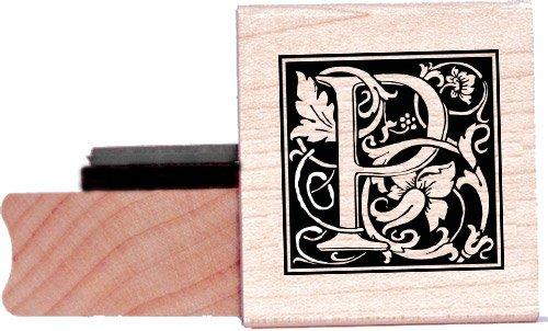 Tampon en caoutchouc alphabet - Lettre P à la William Morris