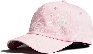 Flipper グラフィティーキャップメンズ レディース ぼうしカジュアル ベースボールキャップ 野球帽 帽子 韓国 野球帽 男女兼用 k pop ファッション BTS Baseball Cap (Pink)