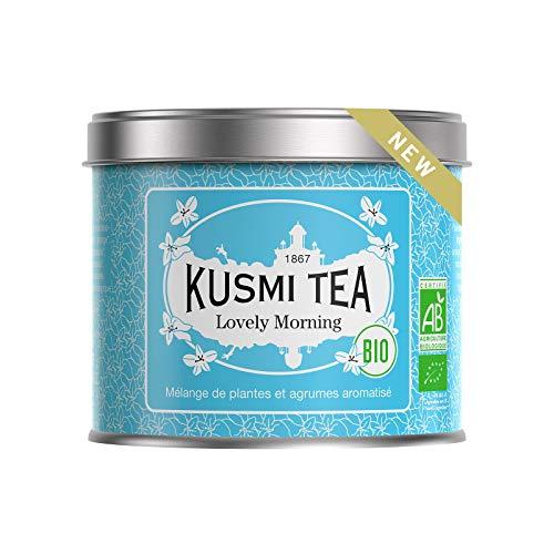 Kusmi Tea - Kusmi Tea – Lovely Morning BIO – Mischung aus Pflanzen und Zitrusfrüchten – 100 g Metall Teedose (etwa 40 Tassen)