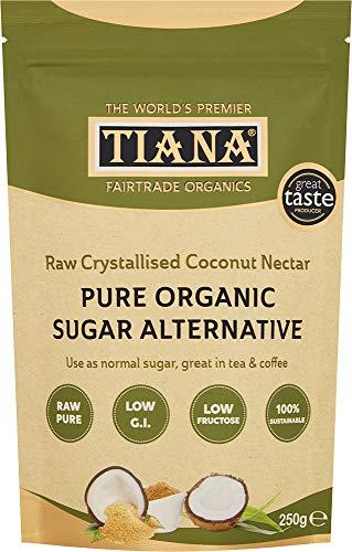 TIANA Fairtrade Organics Premium Organic Coconut Nectar, Pure Sugar Alternative 250g