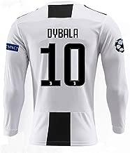ZhouDress Juventus 2018/2019 Season 10 Dybala Home Mens Long Sleeve Soccer Jersey & Armbands (S-L)