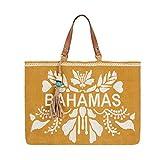 Parfois - Bolso Shopper Textura Rafia Bahamas - Mujer - Talla Xl - Lime
