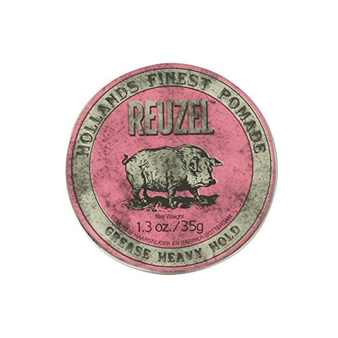 シソーラスペンフレンドくるみReuzel Pink Grease Heavy Hold Pomade Piglet 1.3oz by REUZEL [並行輸入品]