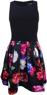 Xscape Womens Petites Floral Fit & Flare Party Dress