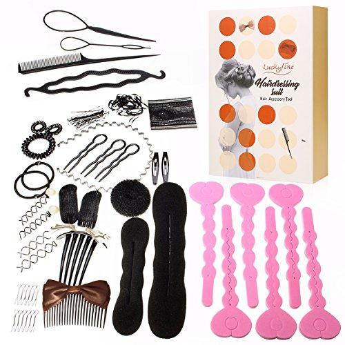 Set per lo styling dei capelli, LuckyFine Moda Design dei capelli Strumenti per lo styling Accessori per capelli fai da te Kit per le donne Ragazze