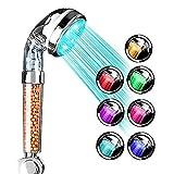 Pommeau de douche à LED 7 Lumières à Couleur Changeante Filtre Pommeau de douche...
