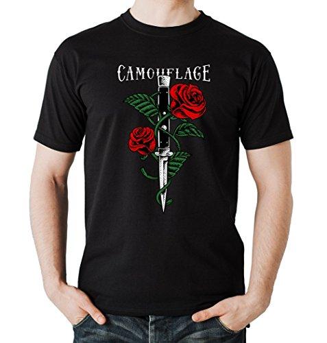 Certified Freak Knife Roses T-Shirt Boys Black L