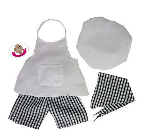 Build your Bears Wardrobe - Ropa para Oso Chef Disfraz , color/modelo surtido